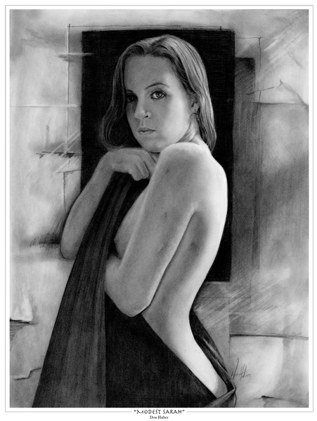 Modest Sarah © Painting by Don Huber