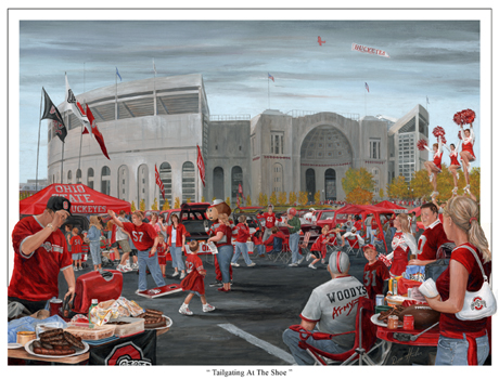 Tailgating at the Shoe © Don Huber store