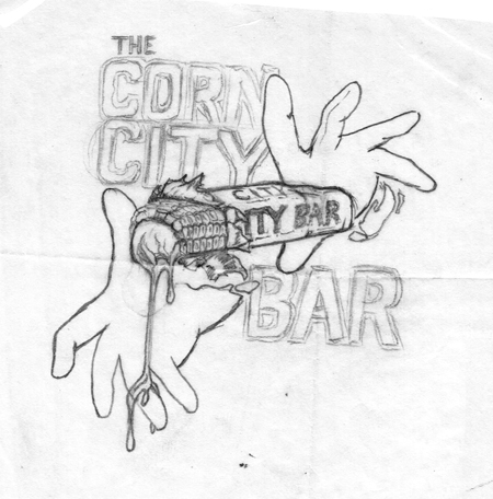 Corn City Bar sketch 450