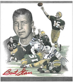 Bart Starr colored pencil 150