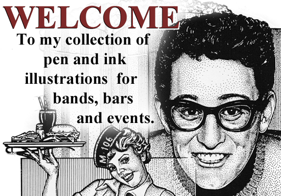 Welcome pen and ink header 573