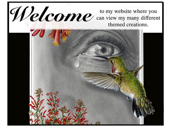 Welcome header for Don Huber art 700 number 3