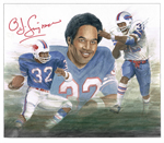 O J Simpson acrylic wash 150