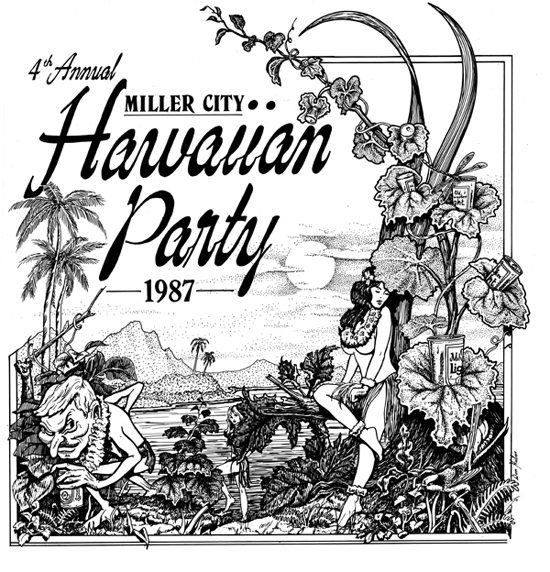 Hawaiian party graphic 550