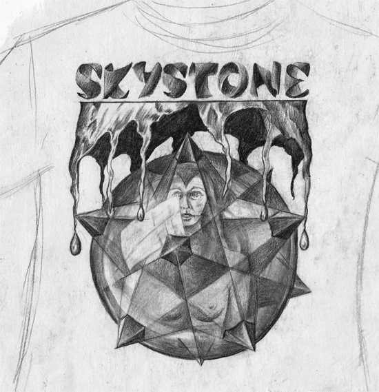 SKYSTONE pencil sketch 550