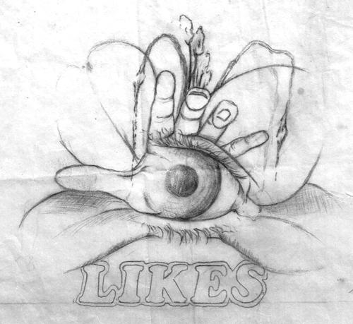 Likes Bar eye pencil sketch 500