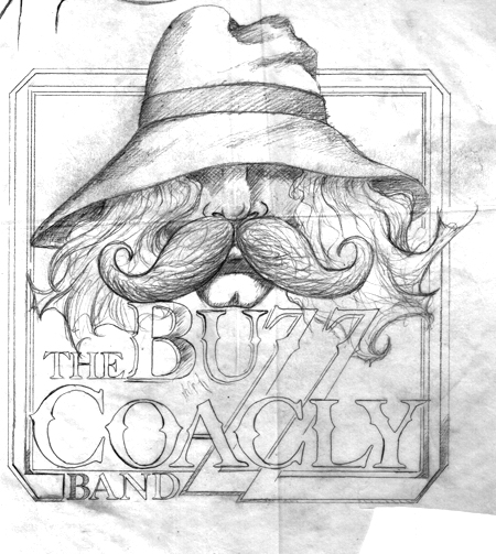 Buzz Coakley Band pencil sketch 450