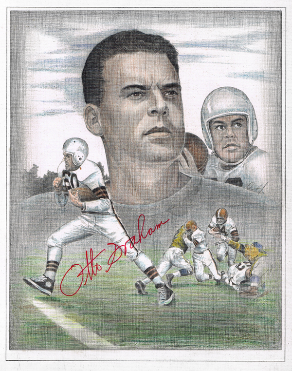 Otto Graham pencil colored pencil 600