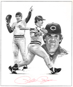 Pete Rose pencil 150