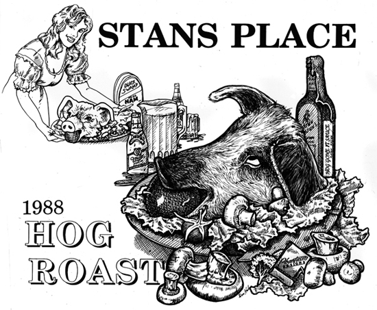 Stan's Place 1988 hog Roast 550