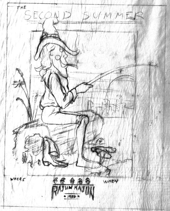 Rajun Kajun Second Summer pencil sketch 550