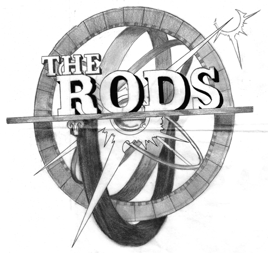 The Rods 2 large pencil sketch 550