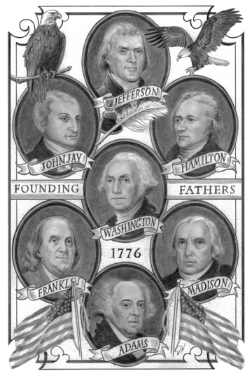 Founding Fathers Facebook 5 x 7