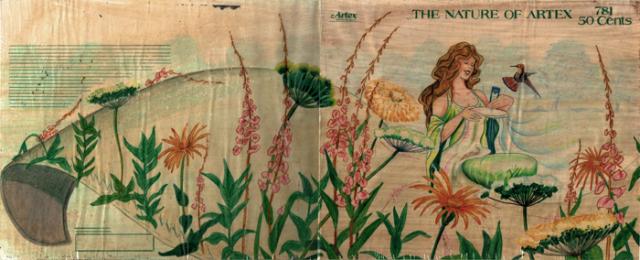 Artex catalog cover sketch